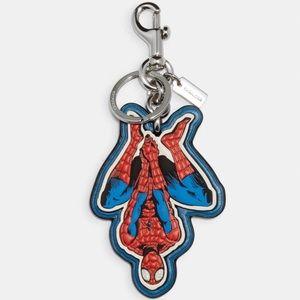 Coach Marvel Spider-Man Keychain Key Fob
